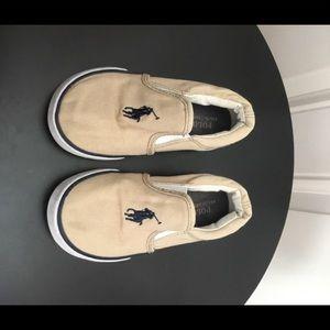 Polo Ralph Lauren Tan Slip On Sneakers